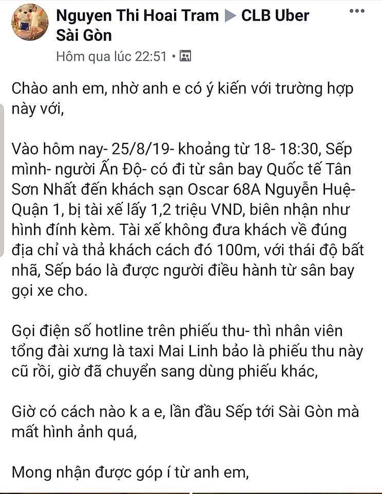 Đi 8km mất 1,2 triệu, Mai Linh nói gì? - 2