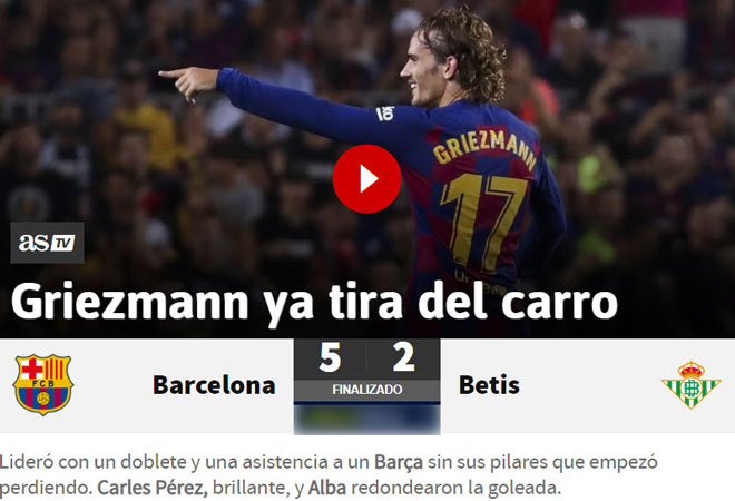 Barca đại thắng vắng Messi: Báo chí vinh danh