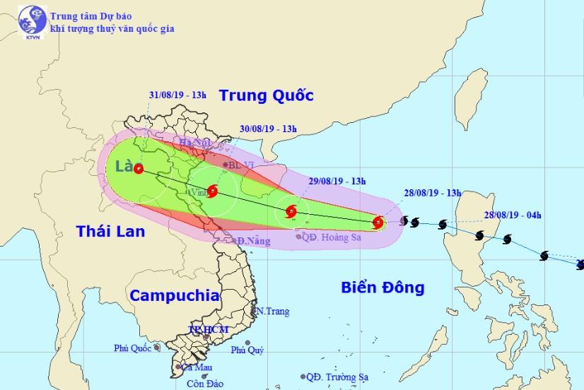 Bão số 4 đang hướng thẳng vào Thanh Hóa đến Quảng Bình - 1