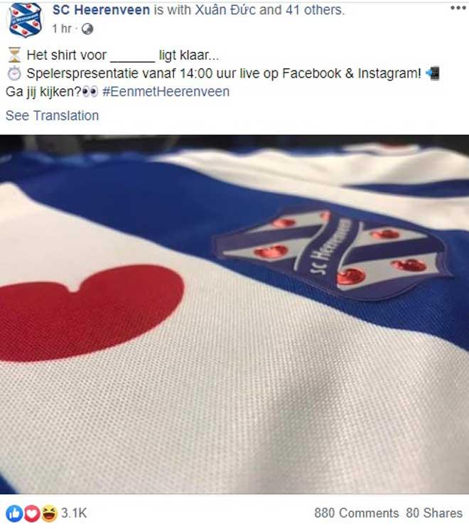 Văn Hậu ra mắt tại Hà Lan: Khoác áo số 15, phát biểu đầy tự hào - 12