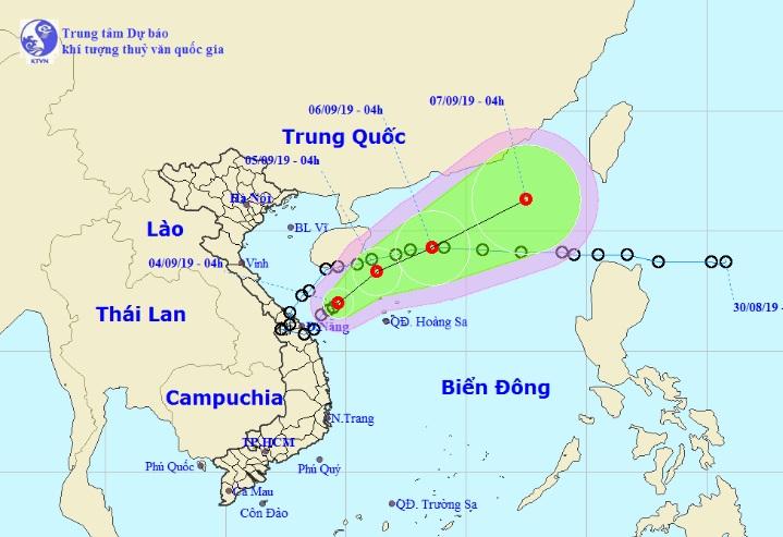 Áp thấp nhiệt đới Kajiki đang cách đất liền các tỉnh Quảng Trị-Quảng Ngãi 180km - 1