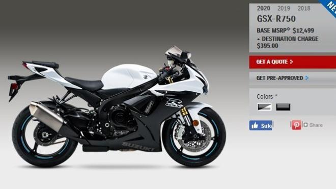 Suzuki GSX-R750 2020: Sportbike tầm trung đáng mua trong năm 2019