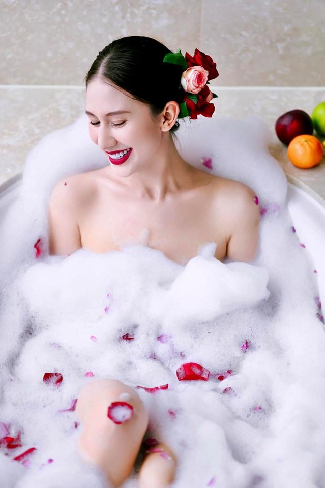 Ngất ngây nét xinh búp bê của bông hồng lai Nga thi Hoa hậu Hoàn vũ Việt Nam - 3
