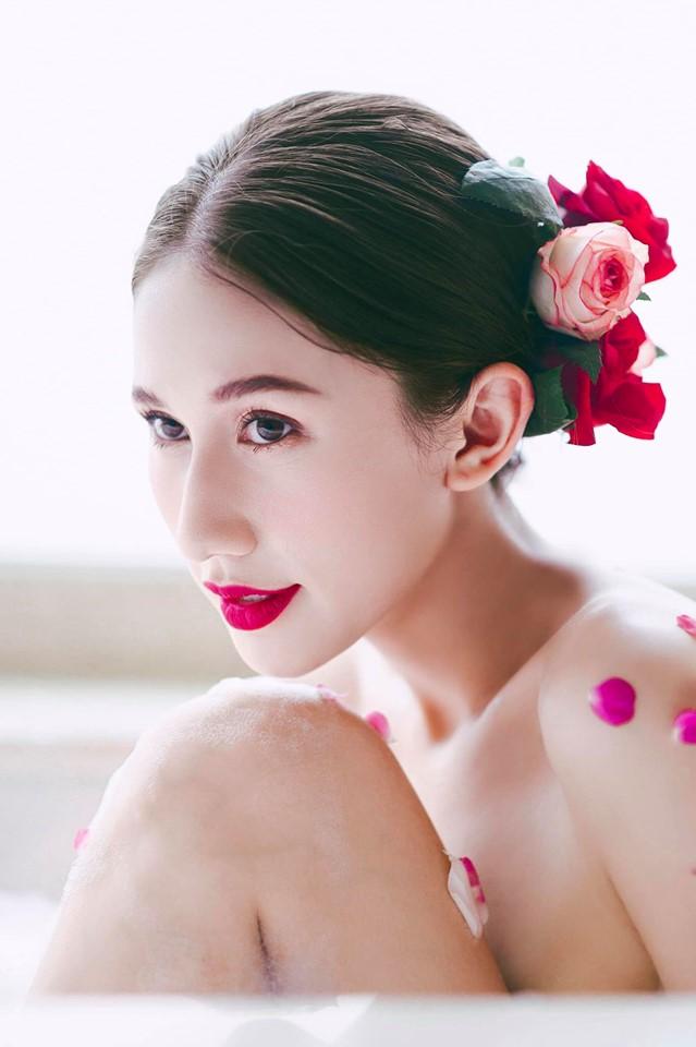 Ngất ngây nét xinh búp bê của bông hồng lai Nga thi Hoa hậu Hoàn vũ Việt Nam