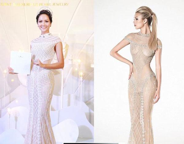 """Chiếc váy càng kéo càng tụt của H'Hen Niê """"nhái"""" của thiên thần nội y - 7"""