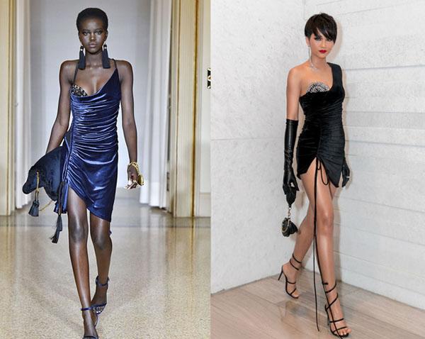 """Chiếc váy càng kéo càng tụt của H'Hen Niê """"nhái"""" của thiên thần nội y - 5"""