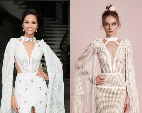 """Chiếc váy càng kéo càng tụt của H'Hen Niê """"nhái"""" của thiên thần nội y - 6"""
