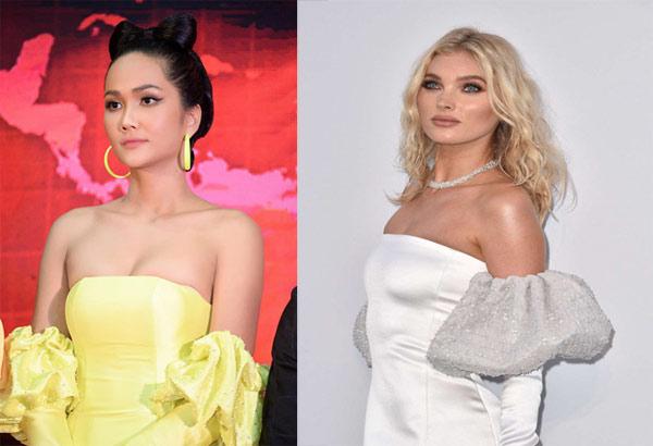 """Chiếc váy càng kéo càng tụt của H'Hen Niê """"nhái"""" của thiên thần nội y - 2"""