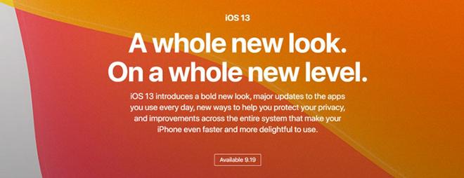 iOS 13 sẽ chính thức đến tay người dùng iPhone từ ngày 19/9 - 2