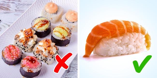 Sushi chứa phụ gia
