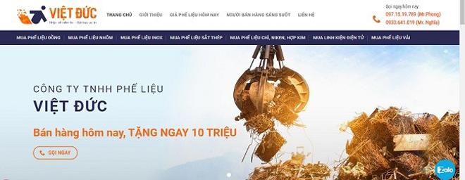 """Thu mua Phế liệu Việt Đức áp dụng ưu đãi lớn - """"bán hàng hôm nay, tặng ngay 10 triệu"""" - 1"""