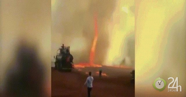 Kinh hãi khi lốc xoáy quỷ lửa cao 79m nóng hơn 1.000 độ C quét qua trang trại