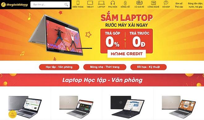 TGDĐ: Trả góp 0%, trả trước 0 đồng, mua laptop chưa bao giờ dễ đến thế