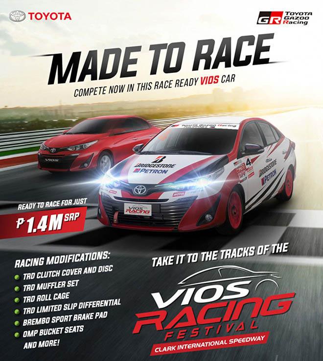 Toyota rao bán dòng xe đua Vios cho khách hàng thị trường Philippines - 1