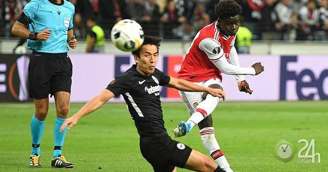 Eintracht Frankfurt – Arsenal: Thẻ đỏ bước ngoặt, tưng bừng cuối trận (Europa League)-Bóng đá 24h