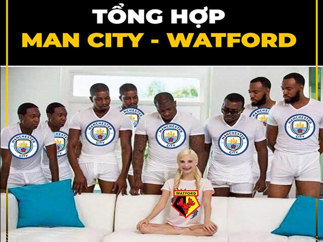 """Ảnh chế: Man City hủy diệt Watford, Tottenham bị """"VAR quật"""""""