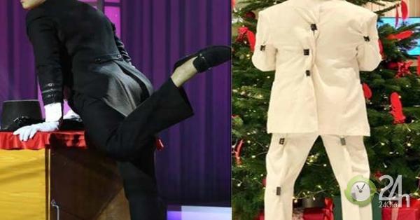 Mặc quần bó chẽn, Trấn Thành gặp sự cố thời trang đỏ mặt trên sóng truyền hình