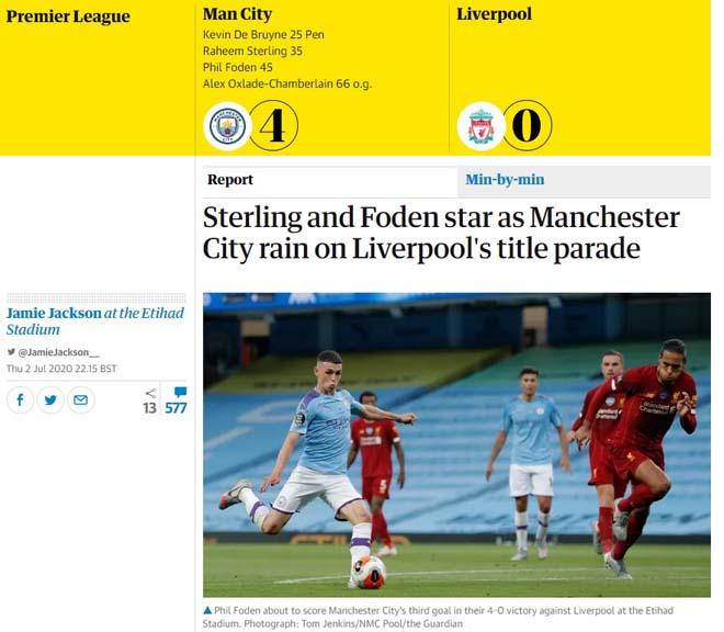 Liverpool thua thảm Man City: Báo Anh chê tơi tả tân vương Ngoại hạng Anh - 3