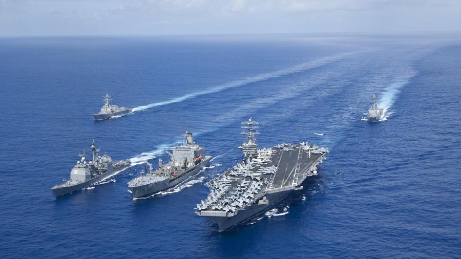 Thông điệp của Mỹ khi điều 2 tàu sân bay đến Biển Đông, nơi TQ đang tập trận - 2