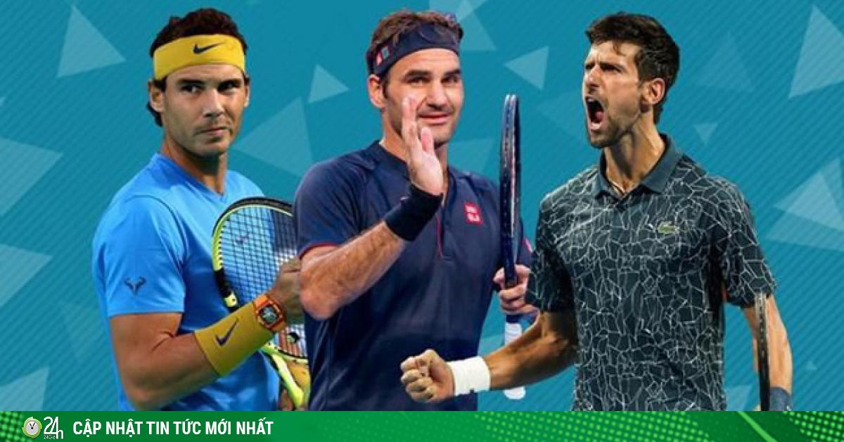 Bảng xếp hạng ATP sửa đổi: Federer lợi thế, Djokovic-Nadal vớ được vàng