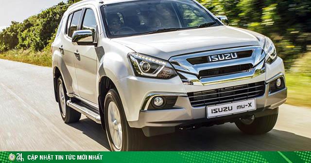 Isuzu mu-X giảm giá gần 70 triệu đồng, thêm ưu đãi 50% phí trước bạ