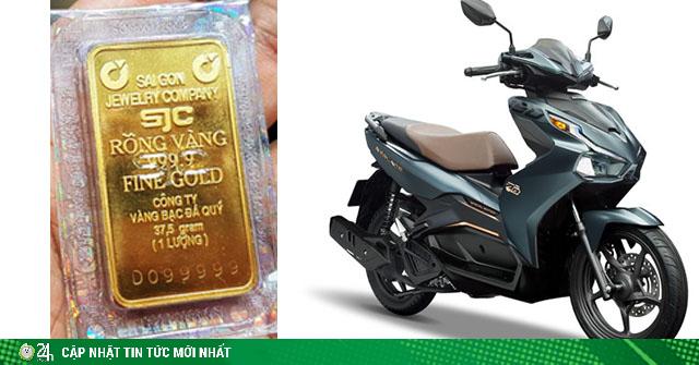 Giá 1 cây vàng hiện tại mua được xe máy nào ở Việt Nam?
