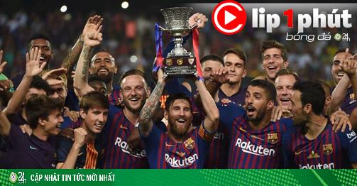 Ngã ngửa kịch bản Barca ngược dòng vượt Real vô địch La Liga (Clip 1 phút Bóng đá 24H)