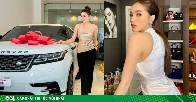 Hoa hậu có vòng 1 sexy nhất Vbiz tậu xế hộp 6 tỷ, lộ gia tài siêu giàu ở tuổi 24