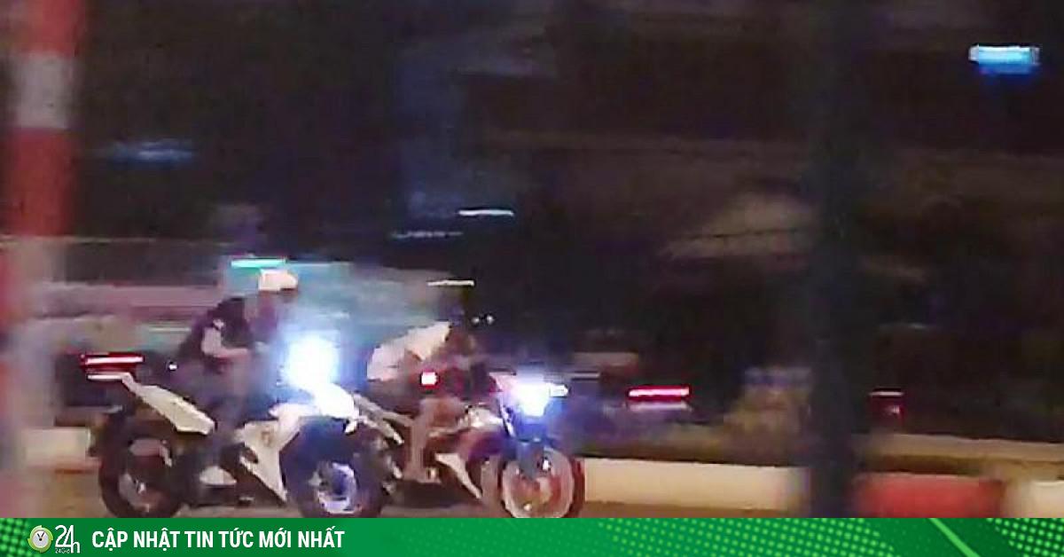 Quái xế tụ tập náo loạn đường Phạm Văn Đồng
