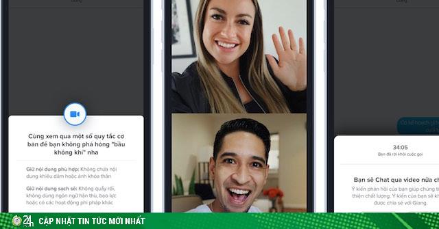 Tinder tung tính năng Face to Face cho các cặp đôi hẹn hò online