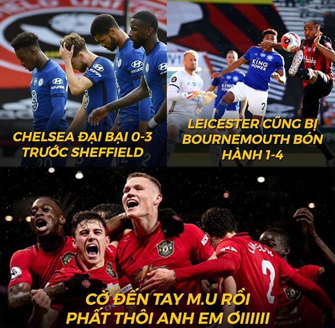 """Ảnh chế: Chelsea và Leicester """"ngã ngựa"""", Man Utd thẳng tiến top 3 - 1"""