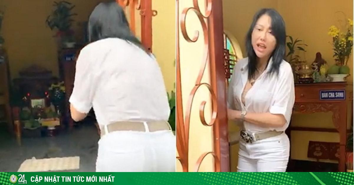 Phi Thanh Vân thiếu tế nhị trong khu vực cúng Tổ khiến dân mạng tranh cãi