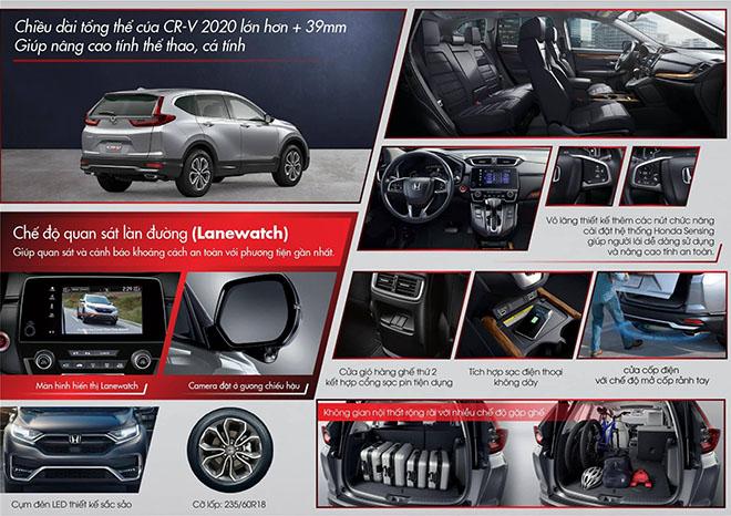 Honda CR-V 2020 lắp ráp tại VN hé lộ thông số kỹ thuật chi tiết - 3