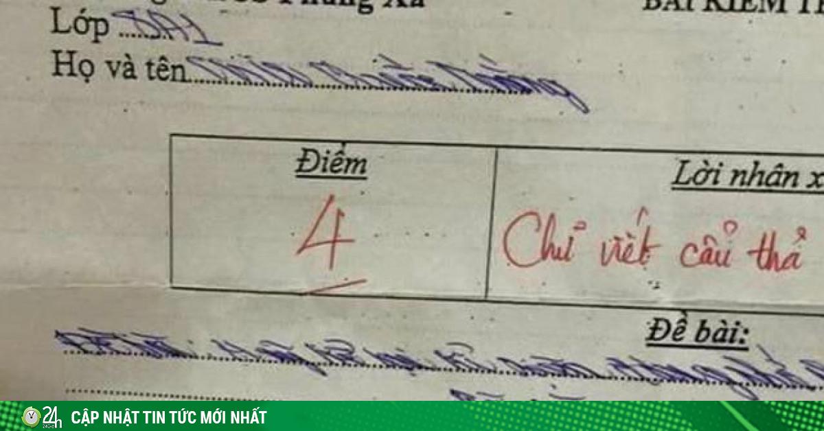 Phát hoảng với bài kiểm tra chữ xấu hơn gà bới, cư dân mạng phải thốt lên hoa mắt thật sự