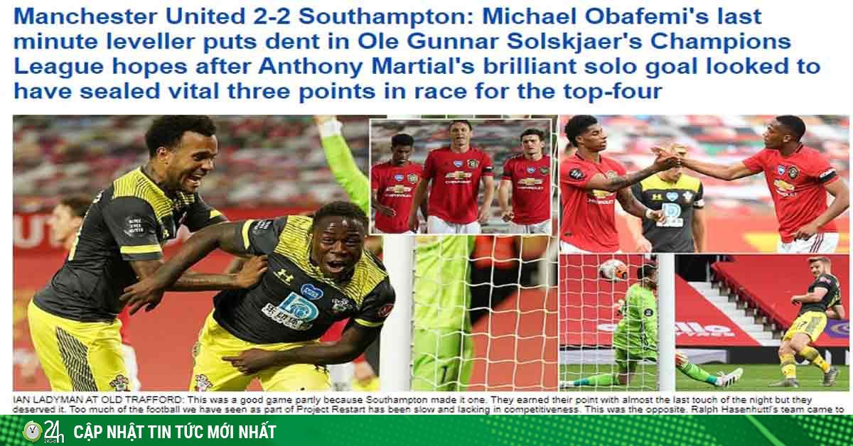 MU thủng lưới phút 90+6: Báo chí Anh khen đối thủ, chỉ ra điểm đen Pogba