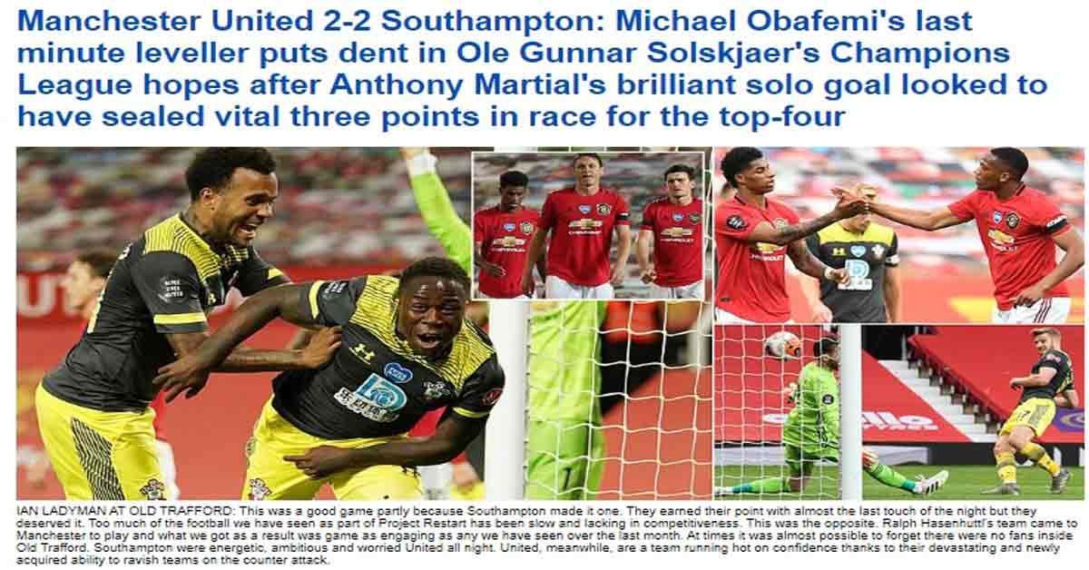 """MU thủng lưới phút 90+6: Báo chí Anh khen đối thủ, chỉ ra """"điểm đen"""" Pogba"""