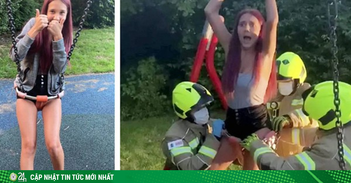 Mải quay clip, nữ TikToker 14 tuổi hoảng hồn khi bị kẹt cứng trong xích đu của trẻ con