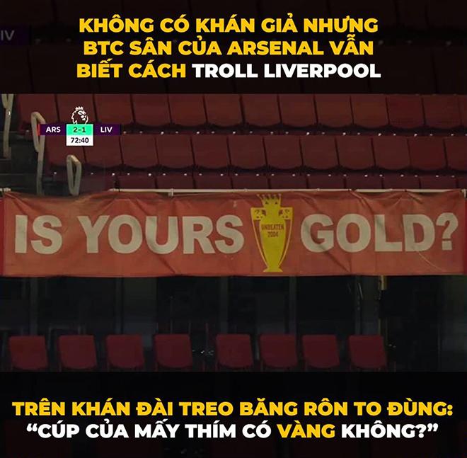 Ảnh chế Arsenal chấm dứt giấc mơ 100 điểm của Liverpool - 4