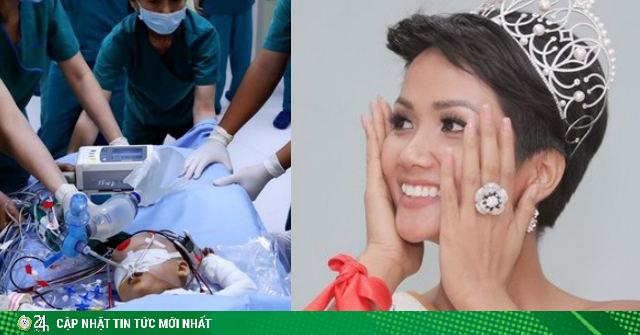 HHen Niê, Thúy Diễm vỡ òa cảm xúc sau ca phẫu thuật của cặp đôi song sinh