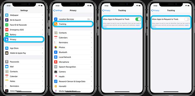 Cách khoá ứng dụng theo dõi trên iPhone - 2