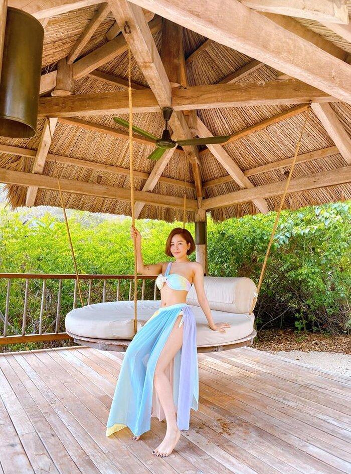 Hot girl Trâm Anh liên tục diện bikini khoe dáng nhờ kiểm soát được cân nặng - 5