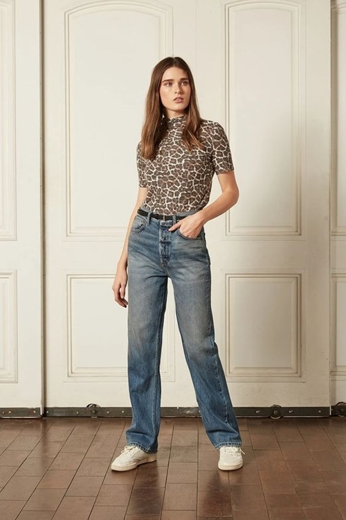 Quần jeans ống loe, màu ngà voi sẽ là xu hướng quần jeans lớn nhất mùa thu 2020 - 7