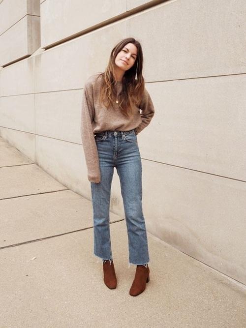 Quần jeans ống loe, màu ngà voi sẽ là xu hướng quần jeans lớn nhất mùa thu 2020 - 8