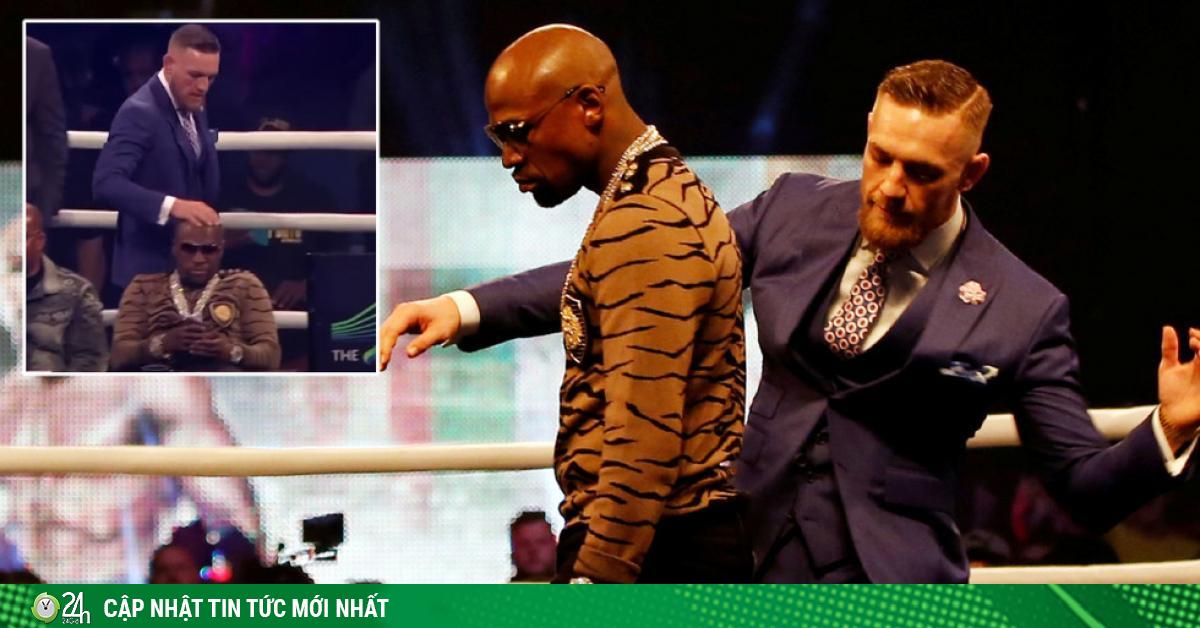 Gã điên McGregor hỗn xược vuốt râu hùm, xoa đầu coi Mayweather như con
