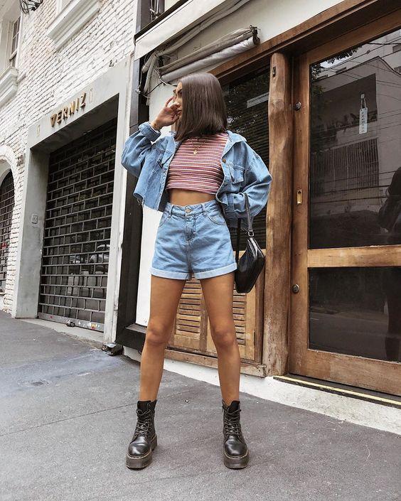 6 cách cô gái Pháp đang mặc quần denim short cổ điển trong mùa hè này - 11