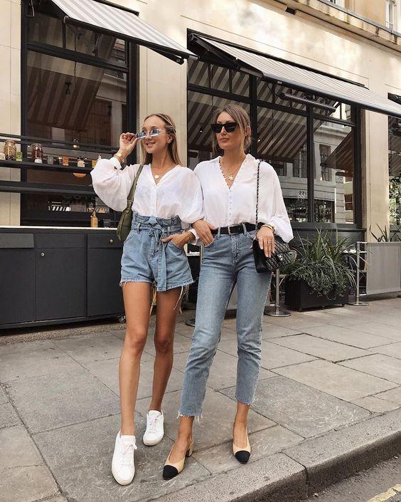 6 cách cô gái Pháp đang mặc quần denim short cổ điển trong mùa hè này - 2