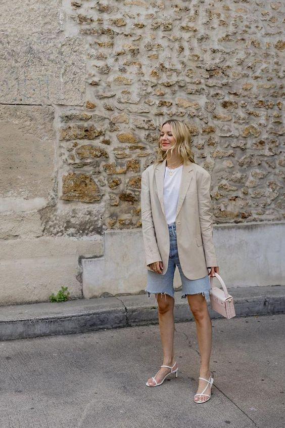 6 cách cô gái Pháp đang mặc quần denim short cổ điển trong mùa hè này - 5