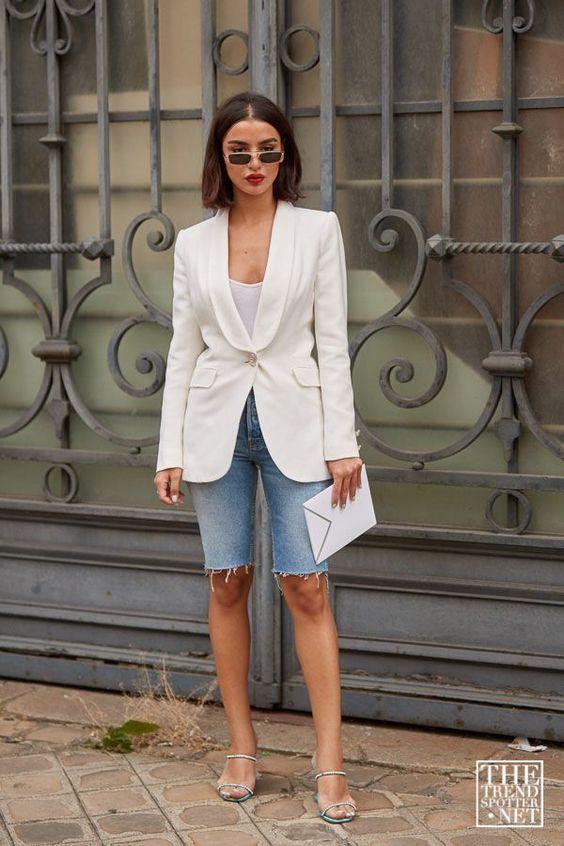 6 cách cô gái Pháp đang mặc quần denim short cổ điển trong mùa hè này - 6