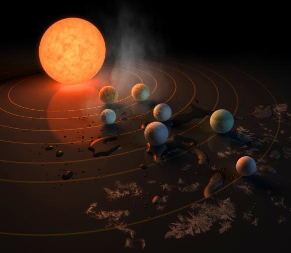 """""""Hệ mặt trời"""" khác có tới… 7 trái đất, có thể ở được! - 1"""