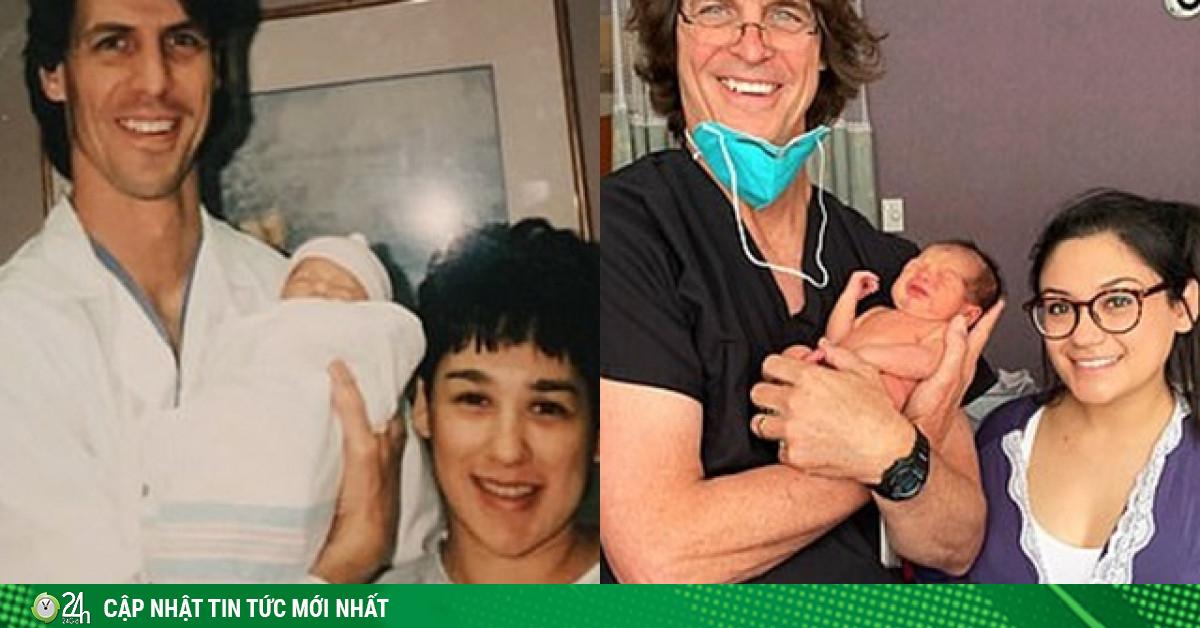 Xem lại bức ảnh lúc chào đời 25 năm trước, sản phụ ngỡ ngàng nhận ra nhân vật đặc biệt